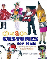 "Title ""Glue & Go Costumes for Kids"" with pictures of kids in variety of costumes."
