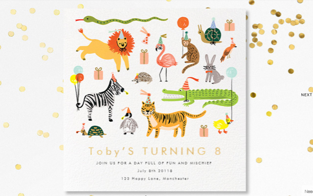 Children's party invite