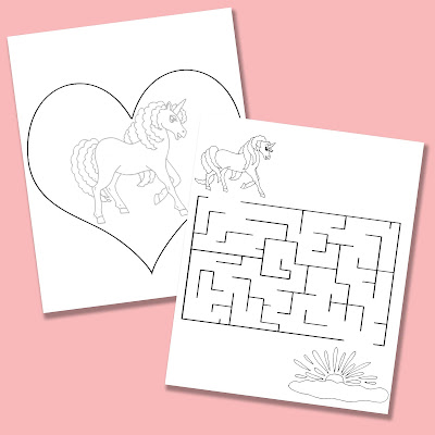 Activity Pages from Horses Hearts And Unicorns Coloring And Activity Book