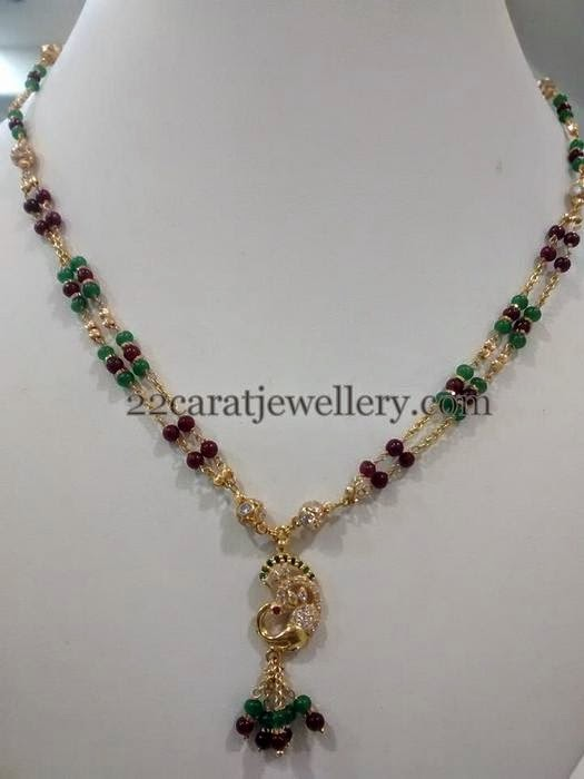 Beads Jewelry With Simple Lockets Jewellery Designs
