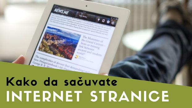 Kako da sačuvate internet stranicu za kasnije čitanje