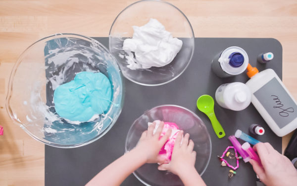MAKE SLIME FROM SHAVING CREAM!  TOO COOL! #slime #slimerecipe #slimerecipeasy #slimerecipewithcontactsolution #slimerecipewithoutglue #shavingcreamslime #shavingcreamactivities #fluffyslimerecipe #fluffyslime