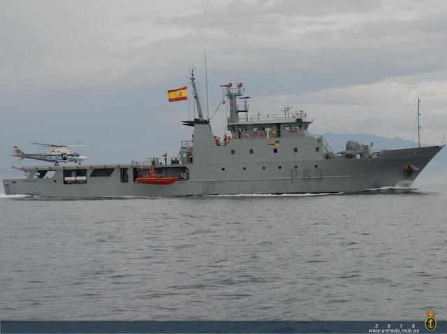 El patrullero de la Armada 'Arnomendi' P-63 cambia su base de Cartagena a Ferrol