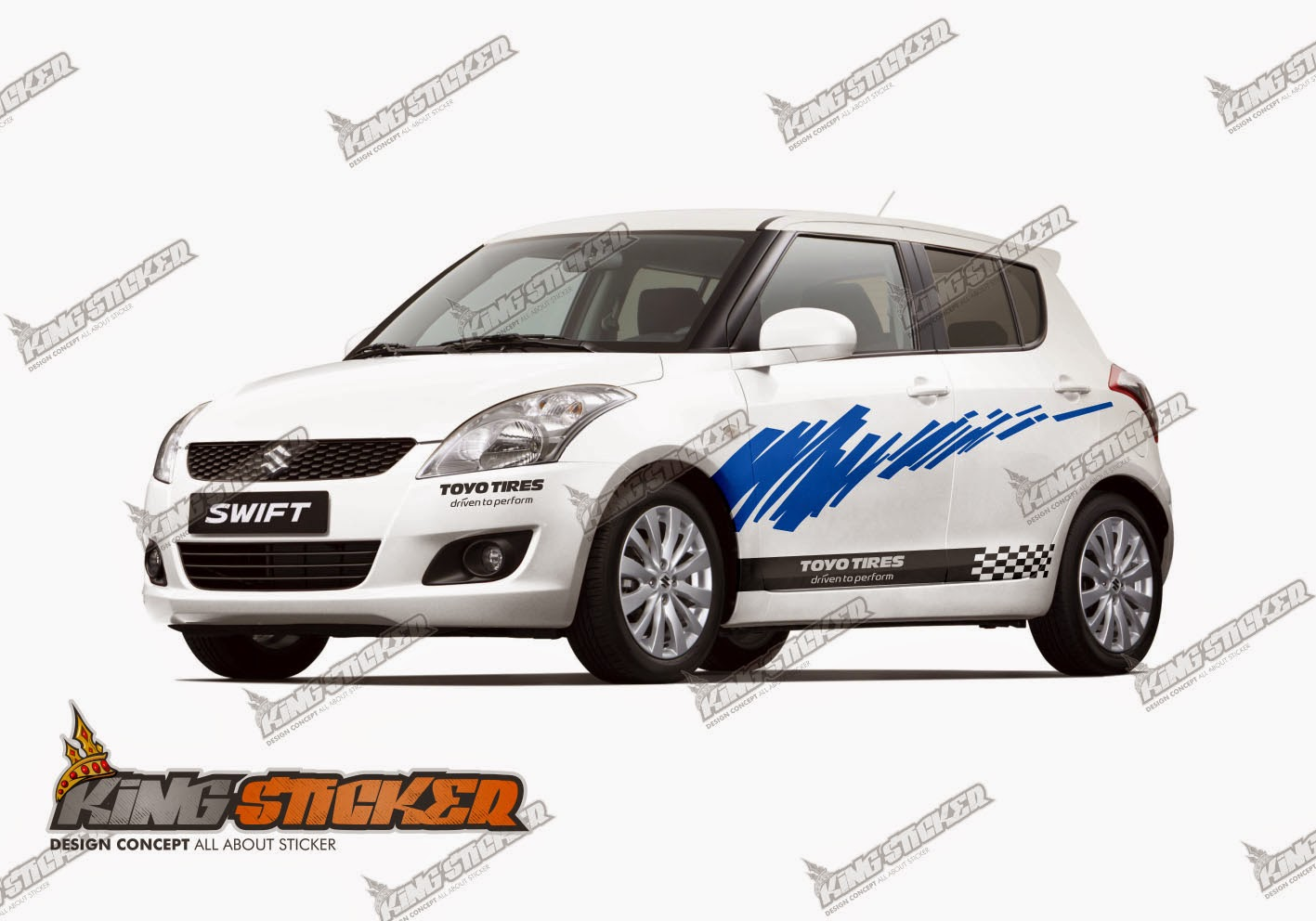 CUTTING STICKER SUZUKI SWIFT | King Sticker bali