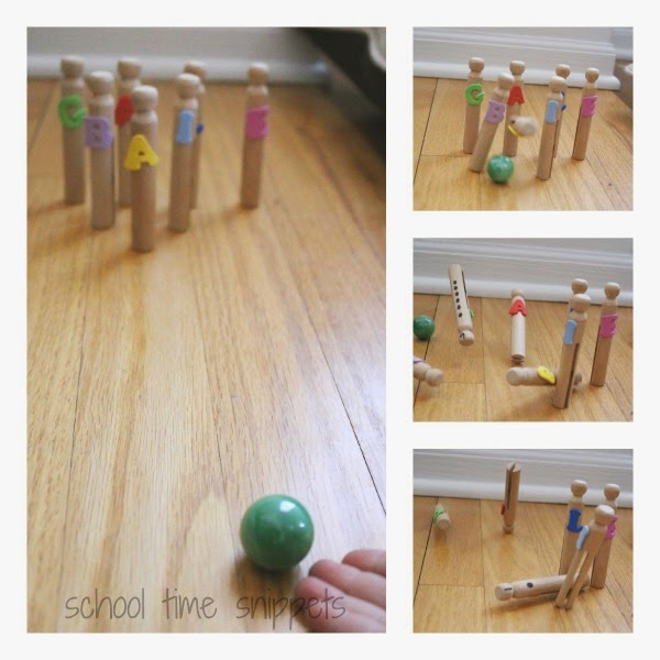 Preschool Name Recognition Bowling Game
