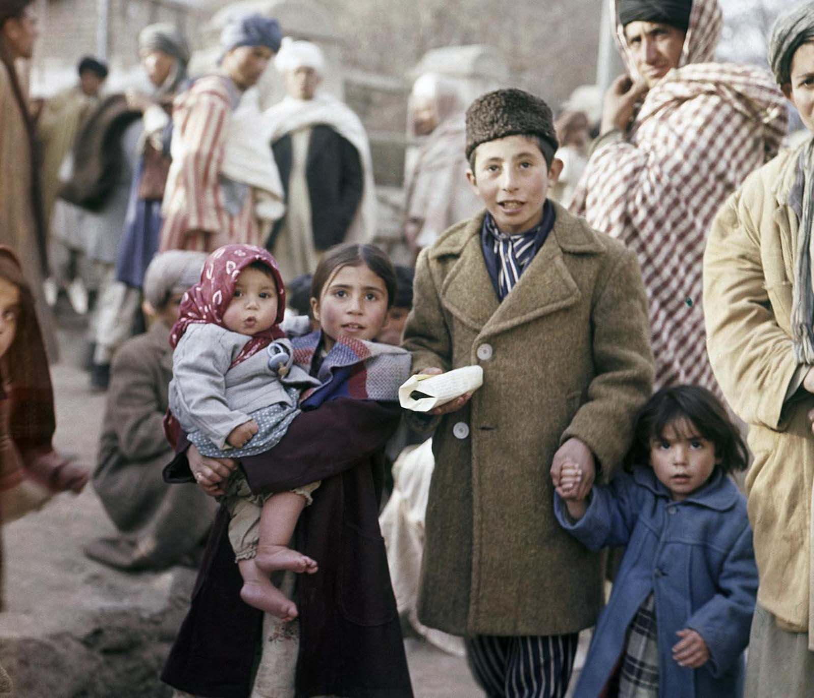 Children in a Kabul street, November, 1961.