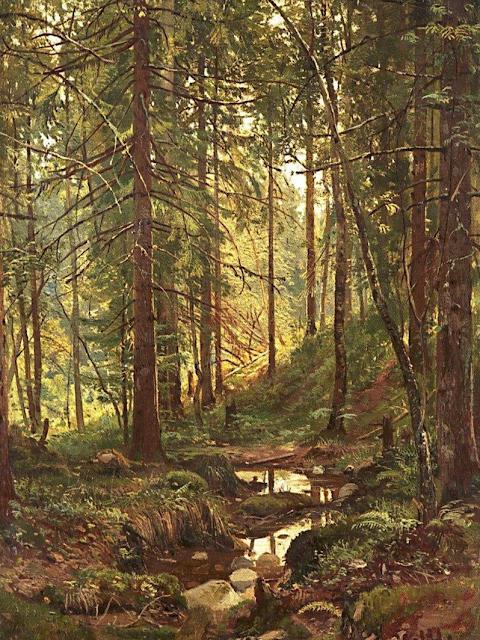 Шишкин Ручей в лесу, 1880 г.