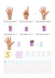 1 Sinif Matematik 5 Rakami Calisma Sayfasi Ders Kitabi Cevaplari