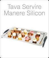 Tava Otel Inoxidabil, Tava Inox, Tavi Servire cu Maner