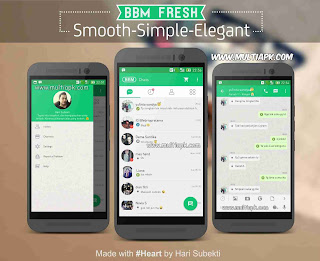 BBM Mod Fresh Green v2.9.0.51 Apk Free Sticker