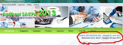 Update SAKPA 2013 Versi 06.004