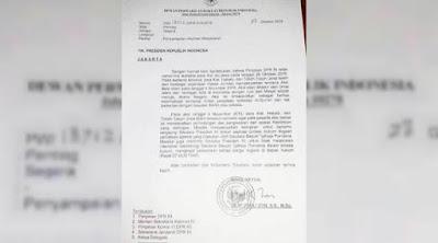 Surat Resmi Fadli Zon Untuk Jokowi