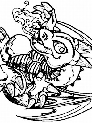 Coloring Pages Online: Yu-Gi-Oh Coloring Pages