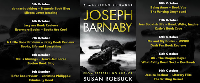 Joseph Barnaby by Susan Roebuck book blog tour graphic