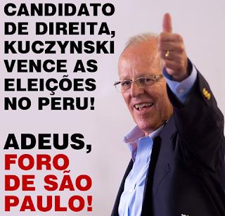 Candidato de Direita, Kuczynski comemora vitória nas eleições do Peru