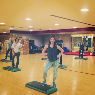 group exercise fitness instructor Zumba step gym class
