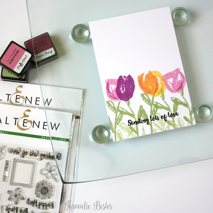 Altenew brush art florals