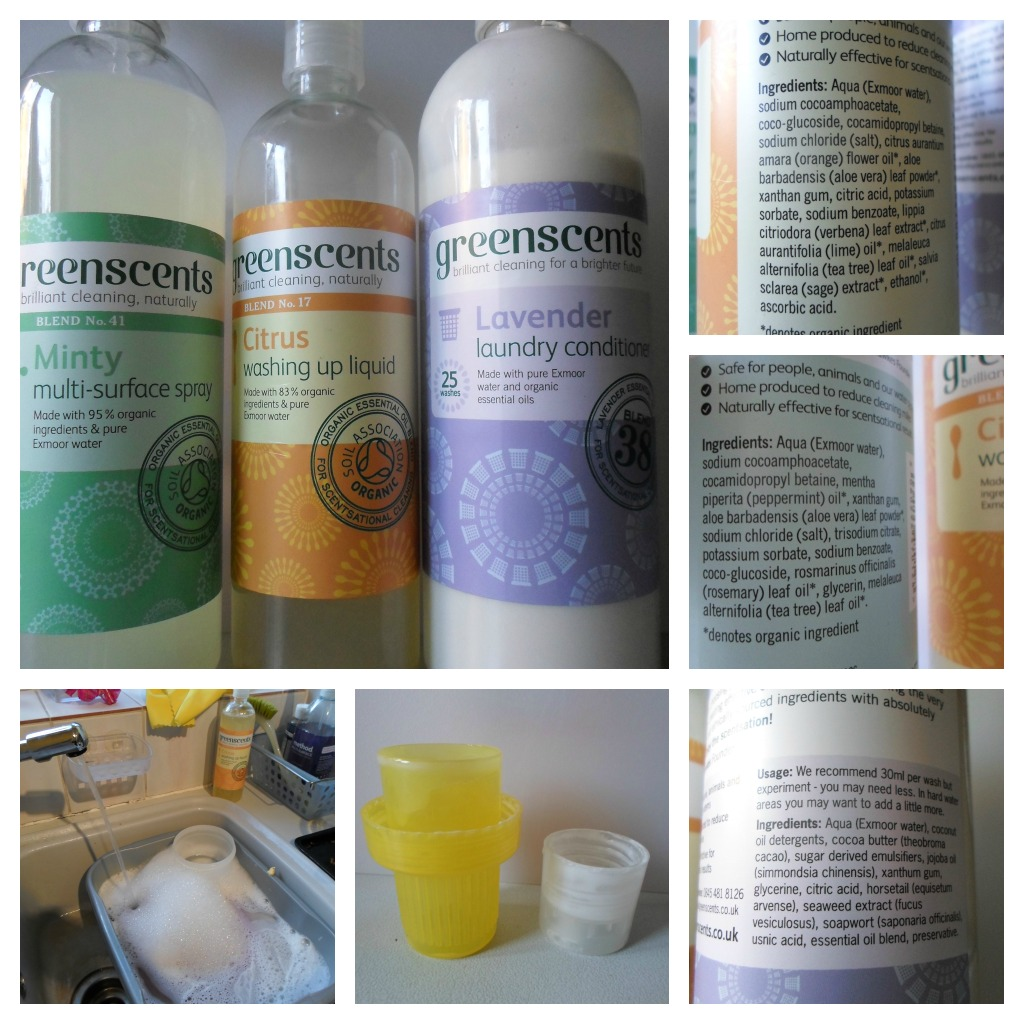 greenscents natural organic vegan cleaning products for around the home