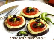 Zapekané baklažánové kolieska - recept