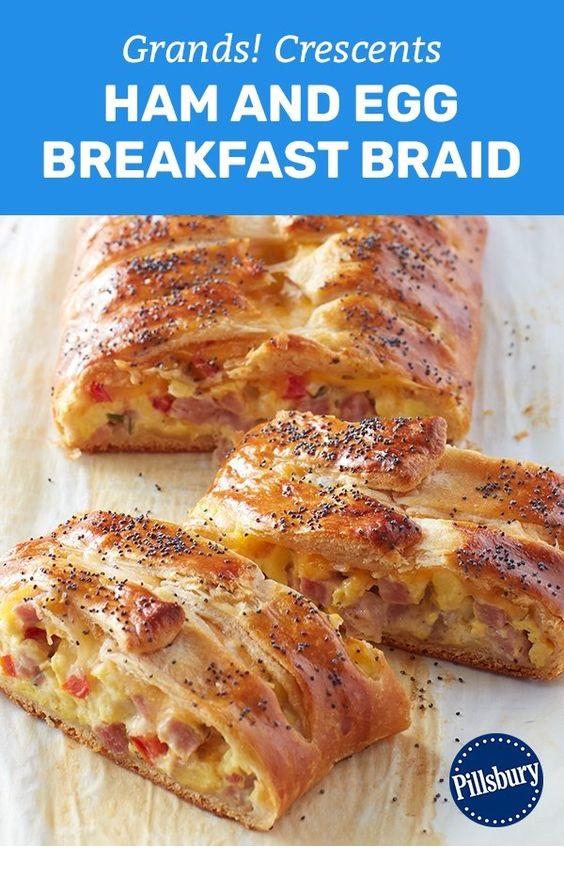 Grands!™ Crescents Ham and Egg Breakfast Braid