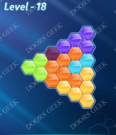Block! Hexa Puzzle [6 Mania] Level 18 Solution, Cheats, Walkthrough for android, iphone, ipad, ipod