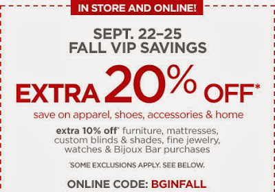 Tea Parties and Lattes: JCP Code - 20% Off Everything Thru 9/25