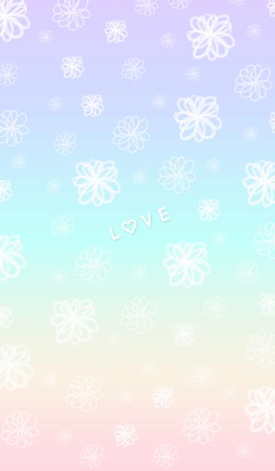 Floral LOVE 10 -watercolor- joc