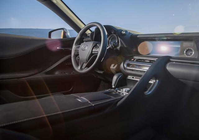 Interior view of 2019 Lexus LC 500