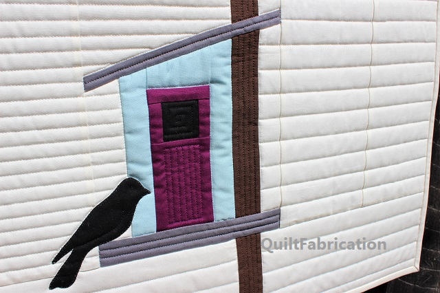 One birdhouse from Welcome to My Birdhouse by QuiltFabrication