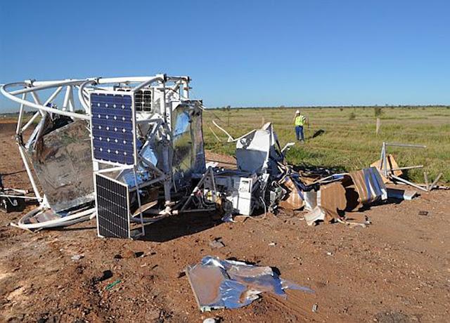 Equipamento satélite da NASA que caiu em uma propriedade