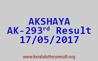 AKSHAYA Lottery AK 293 Results 17-5-2017