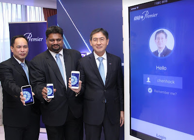 Source: RHB Banking Group. RHB Banking Group at the launch of the enhanced RHB Now Mobile Banking App for Premier customers. From left: David Chong, Head of Affluent Segment, Consumer Finance and Payments, RHB Bank; Rohan Krishnalingam, Group COO, RHB Banking Group and U Chen Hock, Executive Director, Group Retail Banking.