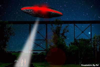 UFO Emits Beam