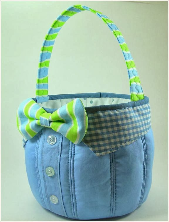 Корзинки из ткани.  Baskets of cloth