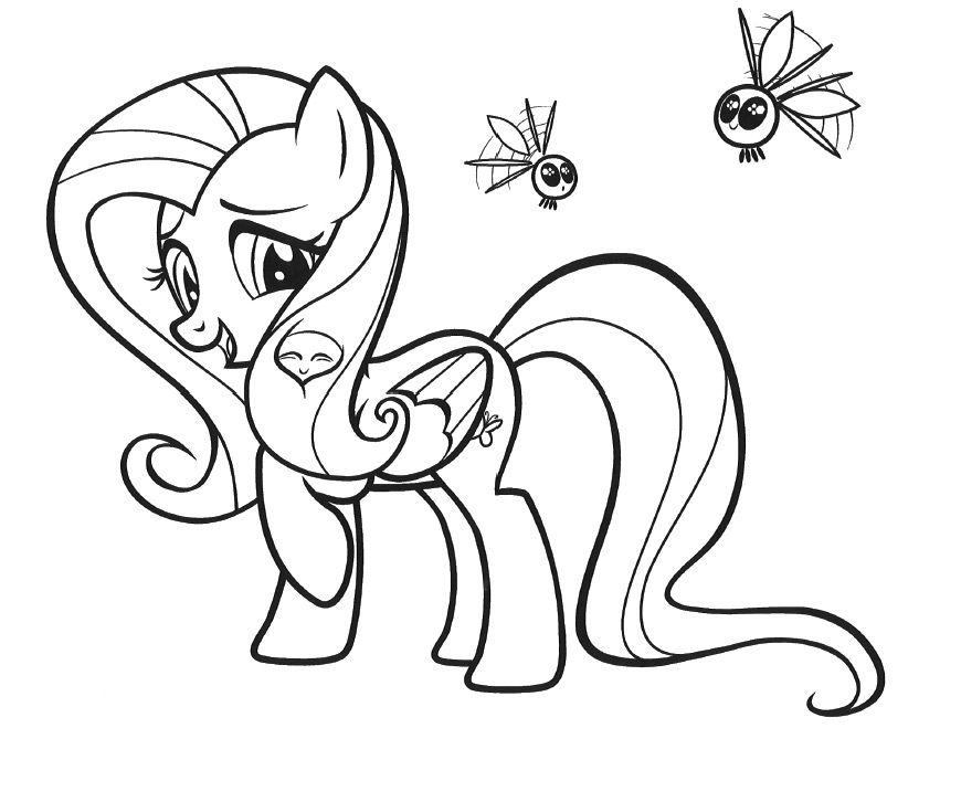 My little pony for My little pony fluttershy coloring pages