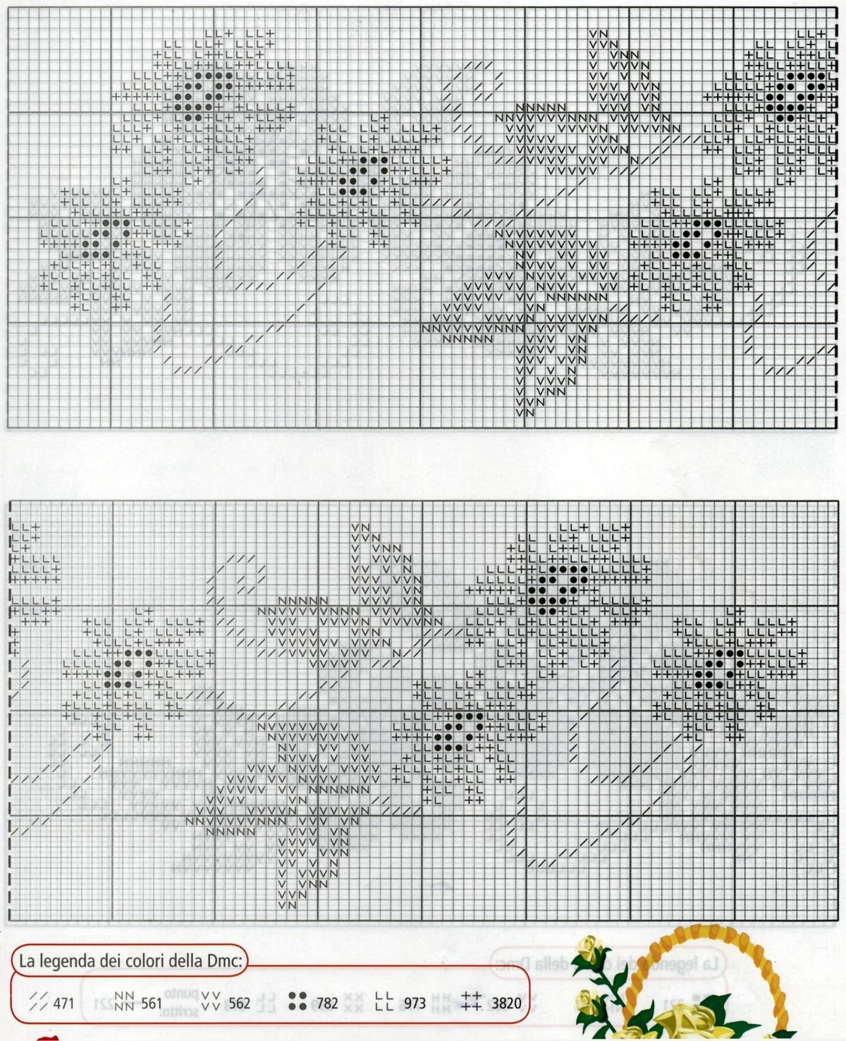 Professione donna schema punto croce bordure dai toni for Immagini di punto croce