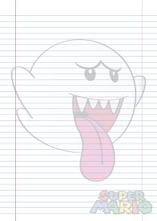 Folha Papel Pautado fantasma Bu em PDF para imprimir folha A4