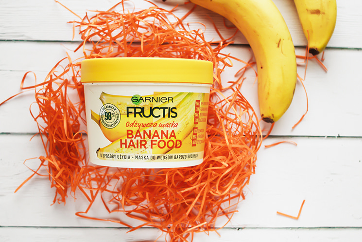 GARNIER, FRUCTIS, BANANA HAIR FOOD, MASKA DO WŁOSÓW