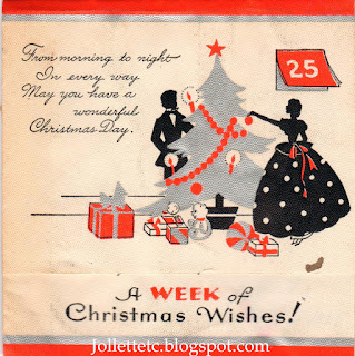 1935 Christmas card from Dea Christian to Mary Theresa Sheehan Walsh  https://jollettetc.blogspot.com