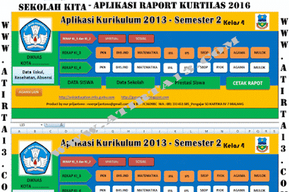 Download Aplikasi Raport Kurikulum 2013 Format Excel Khusus SD