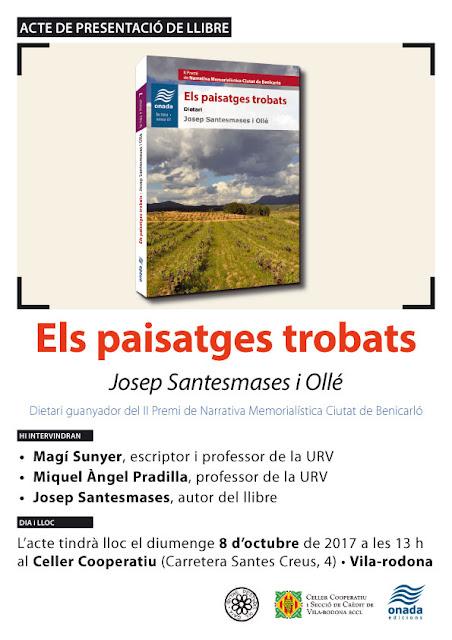 Esguard de Dona - Presentació del llibre Els Paisatges Trobats de Josep Santesmases