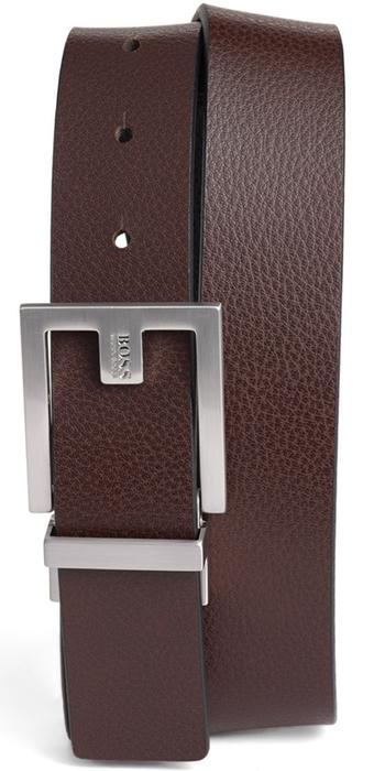 BOSS 'Fleming' Reversible Leather Belt