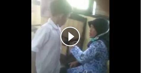 VIDEO: Diingatkan Guru, Bocah SD Ini Justru Melawan Dan Tantang Adu Jotos