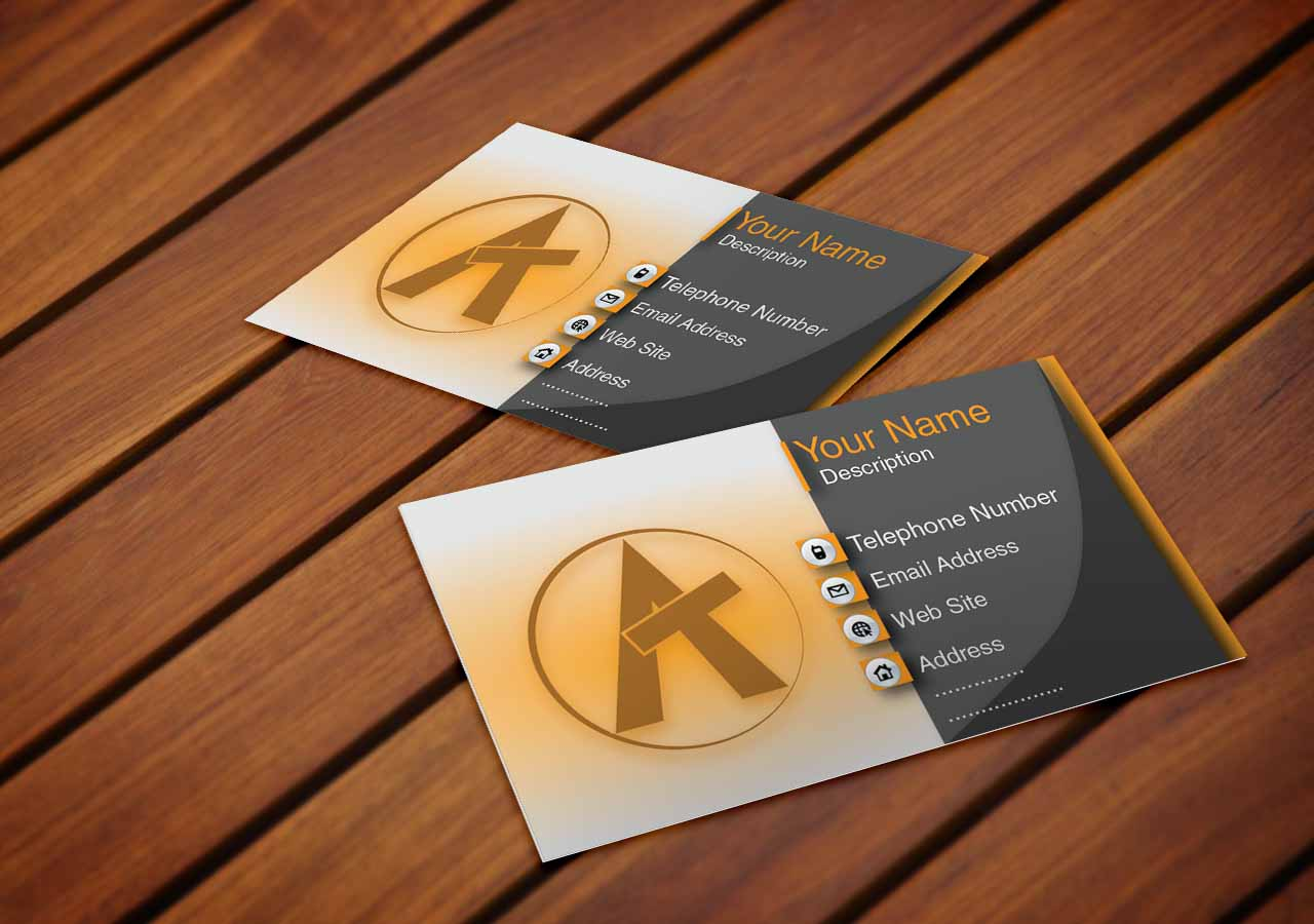 Shiny Wood Business Card Mock-up PSD Free Download - Adobetemp ...