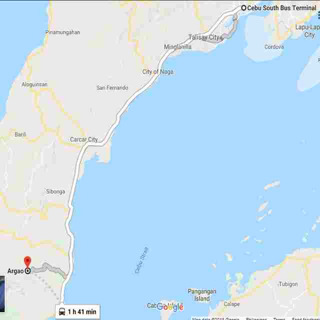 Map Destination of Bugasok Falls Argao Cebu Philippines 2018