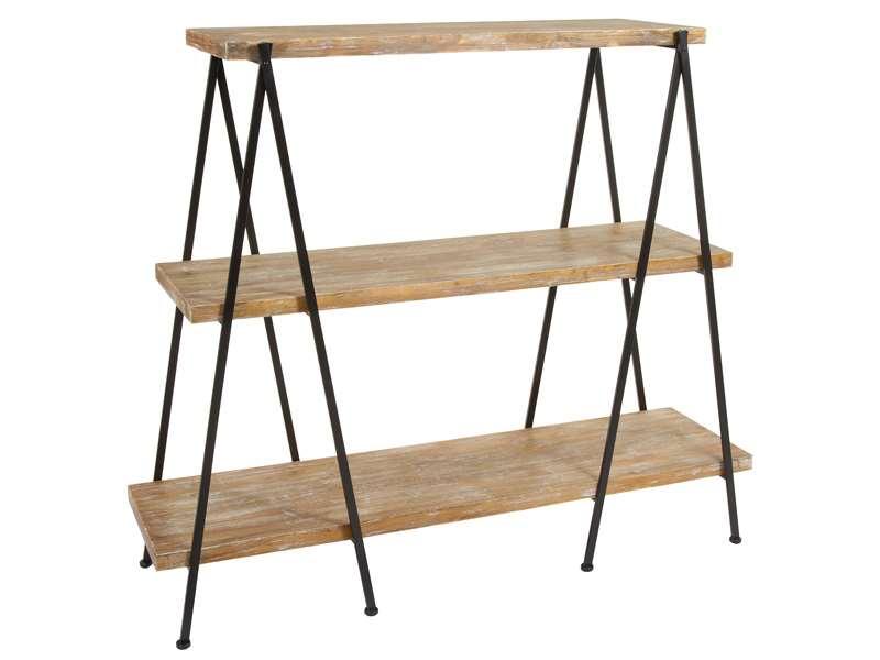 Muebles de forja estanterias de madera y forja serie agazzi - Estanterias en madera ...
