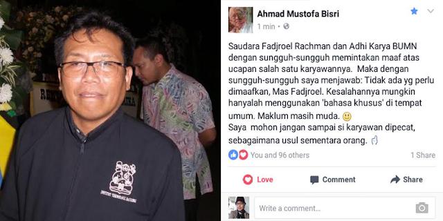 PT Adhi Karya Mohon Maaf Atas Kicauan Pandu Wijaya Kepada Gus Mus