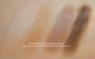 IDUN Minerals - Brunkulla eyeshadow palette - swatches con più luce