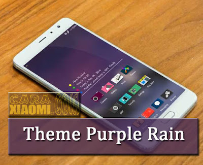 Theme MIUI Purple Rain V8 Mtz Terbaru For Xiaomi