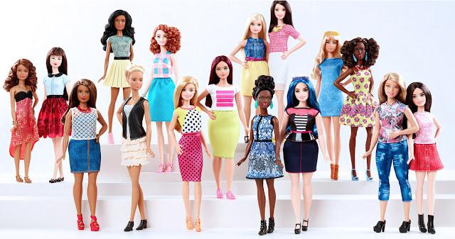 le nuove Barbie curvy, petite e tall